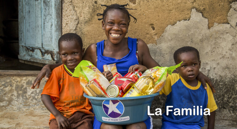 Una familia feliz en Ghana