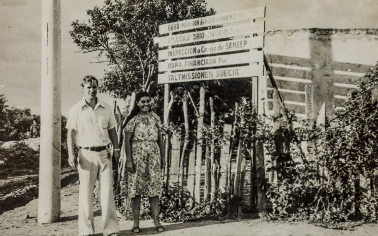 Kenth y Alba en Chaco, Argentina 1977