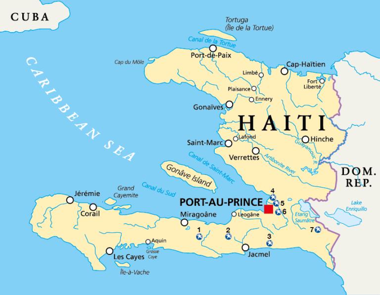 El mapa de los proyectos de Star of Hope en Haití
