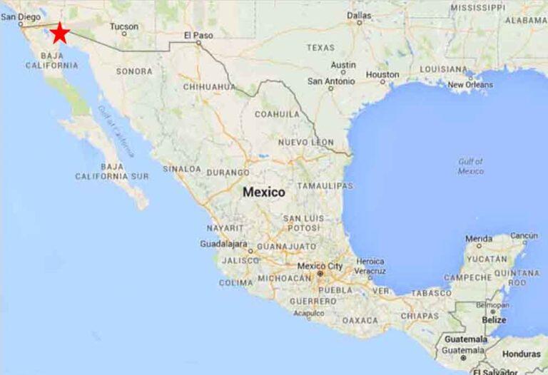 El mapa de Mexico, San Luis Río Colorado.
