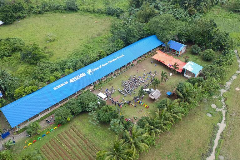 La escuela en Infanta, Filipinas
