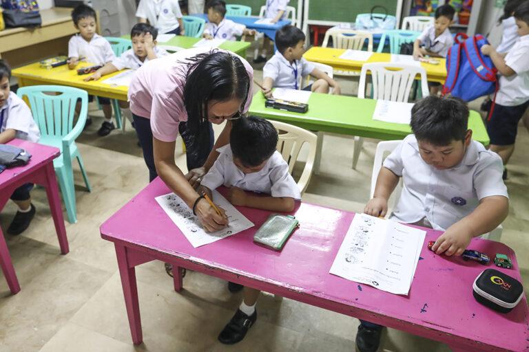 El preescolar en Crame, Filipinas